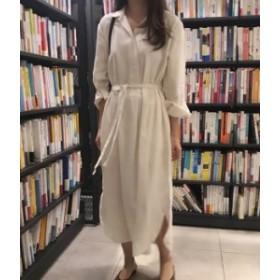シャツ ワンピース ロング 白 ホワイト 長袖 きれいめ 秋物 冬物 最新 レディース ファッション2020 人気 可愛い 大人