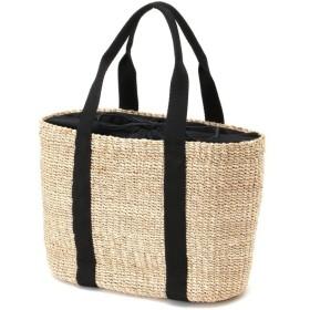 バッグ カバン 鞄 かごバッグ アバカキャンバストートかごバック カラー 「ナチュラル/ブラック」