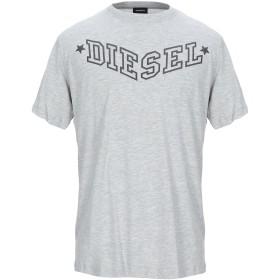 《セール開催中》DIESEL メンズ T シャツ ライトグレー M コットン 100%