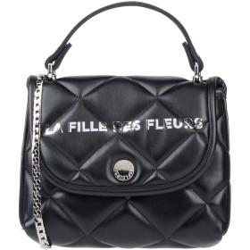 《セール開催中》LA FILLE des FLEURS レディース ハンドバッグ ブラック ポリエーテル 53% / ナイロン 25% / ポリエステル 16% / ポリウレタン 6%
