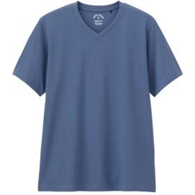 (GU)VネックT(半袖) BLUE XS