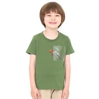 【グラニフ:トップス】キッズTシャツ クリアポケットショートスリーブティー(アナトミカルポケット)