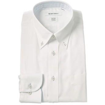 【THE SUIT COMPANY:トップス】【SUPER EASY CARE】ボタンダウンカラードレスシャツ 織柄 〔EC・FIT〕
