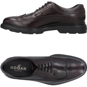 《セール開催中》HOGAN メンズ レースアップシューズ ディープパープル 5 革