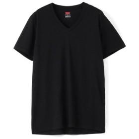 Levi's COOLMAXメッシュ VネックTシャツ メンズ ブラック