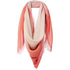 《期間限定 セール開催中》DESTIN レディース スカーフ オレンジ レーヨン 50% / 麻 42% / シルク 8%