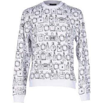 《9/20まで! 限定セール開催中》VERSACE メンズ スウェットシャツ ホワイト XL コットン 100% / ナイロン / ポリウレタン
