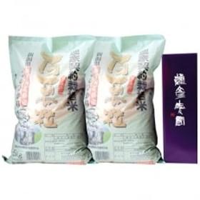 【平成30年産】弥彦村産限定こしひかり10kg(5kg×2袋)、彌彦愛国1.8Lセット