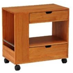 10%OFFクーポン対象商品 サイドテーブル ソファサイドテーブル キャスター付き ライトブラウン クーポンコード:KZUZN2T
