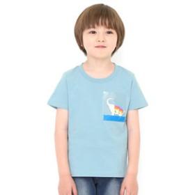 【グラニフ:トップス】キッズTシャツ クリアポケットショートスリーブティー(ベイシングエレファント)