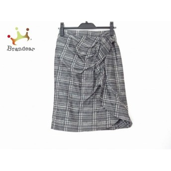 マテリア スカート サイズ36 S レディース 美品 黒×ベージュ×マルチ チェック柄/フリル スペシャル特価 20190903