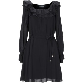 《セール開催中》PATRIZIA PEPE レディース ミニワンピース&ドレス ブラック 46 レーヨン 100% / コットン