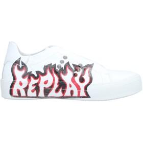《期間限定 セール開催中》REPLAY レディース スニーカー&テニスシューズ(ローカット) ホワイト 36 革