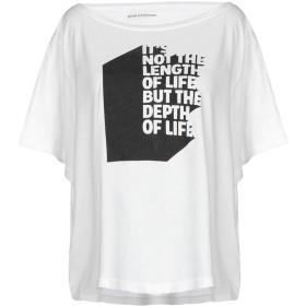 《期間限定 セール開催中》GOOD H YOUMAN レディース T シャツ ホワイト XS コットン 50% / レーヨン 50%