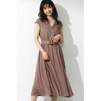PROPORTION BODY DRESSING / プロポーションボディドレッシング  開襟衿ベルト付きワンピース