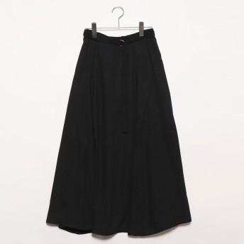 スタイルブロック STYLEBLOCK ガーゼベルト付きフレアスカート (ブラック)