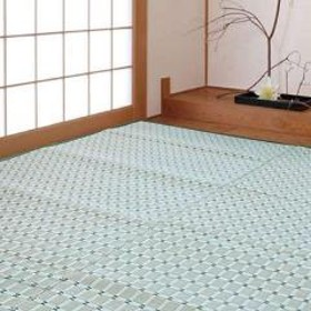 花ござ 洗えるPP製 月ヶ瀬 五八間 1畳 約88×176cm グリーン