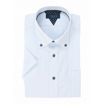 [マルイ]【セール】形態安定スリムフィットドゥエボタンダウン半袖シャツ/タカキュー(TAKA-Q)