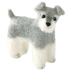 ハマナカ(HAMANAKA) ハマナカ フェルト羊毛キット ふわふわ羊毛でつくる、フェルト犬 ミニチュア・シュナウザー H441-423 (1256926)