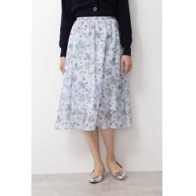 [マルイ]【セール】ドビーボタニカルプリントスカート/ナチュラルビューティーベーシック(NATURAL BEAUTY BASIC)