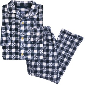 【レディース】 シャツパジャマ(男女兼用) - セシール ■カラー:ネイビー ■サイズ:3L,M,L