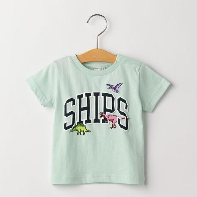 [マルイ] SHIPS KIDS:ロゴ×恐竜 プリント TEE(80-90cm)/シップス キッズ(SHIPS KIDS)