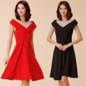 ロングドレス 結婚式 お呼ばれ ドレス パーティードレス マキシ丈 ワンピース 20代 30代 40代 大きいサイズ 袖なし イブニングドレス