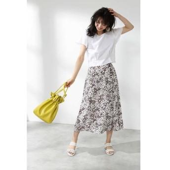 PROPORTION BODY DRESSING / プロポーションボディドレッシング  ハートフローラプリントサイドプリーツスカート