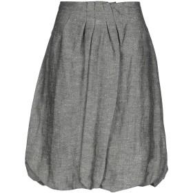 《期間限定 セール開催中》GOTHA レディース ひざ丈スカート グレー M 指定外繊維(ヘンプ) 55% / レーヨン 30% / ウール 15%