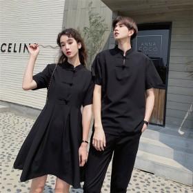 [55555SHOP] 中華風、ファッション 潮流 カップルウェア トップス 休暇 度假 Tシャツ 高品質 メンズ レディース ファッション 肌に優しい綿生地 通気性 男女兼用 カップルウェア