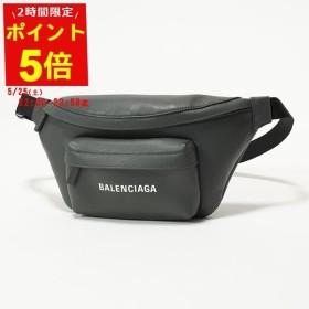 BALENCIAGA バレンシアガ 552375 DLQ4N 1160 エブリデイ ロゴ ベルトバッグ レザー ボディバッグ GRIS ユニセックス メンズ