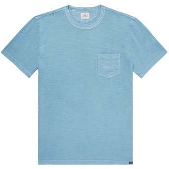 《9/20まで! 限定セール開催中》FAHERTY メンズ T シャツ アジュールブルー XS コットン 100%