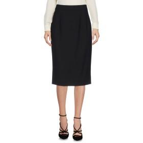 《送料無料》DOLCE & GABBANA レディース ひざ丈スカート ブラック 40 バージンウール 97% / ポリウレタン 3%