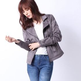 ライダースジャケット - GUESS【WOMEN】 [GUESS] TESS SUEDE JACKET