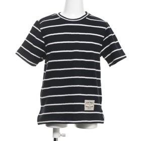 【キッズ・ベビーおそろいアイテム】コムサイズム COMME CA ISM ボーダー 半袖Tシャツ (ネイビー)