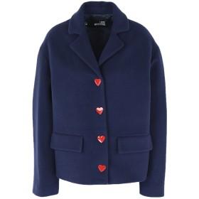《期間限定 セール開催中》LOVE MOSCHINO レディース コート ブルー 42 バージンウール 80% / ナイロン 20%