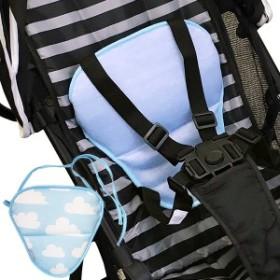 保冷シート 抱っこ紐 kissbaby マルチクッション 保冷 シート 保冷剤付き ( 冷感 接触冷感 ひんやり クッション 赤ちゃん ベビー 保冷剤