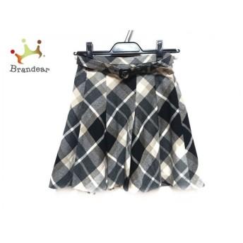 バーバリーブルーレーベル スカート サイズ36 S レディース 黒×ベージュ チェック柄 スペシャル特価 20190816