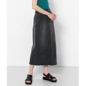 デニムロングタイトスカート【お取り寄せ商品】