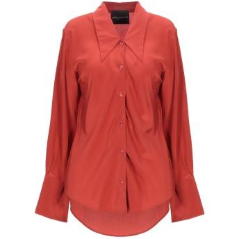《セール開催中》ERIKA CAVALLINI レディース シャツ 赤茶色 40 シルク 100%