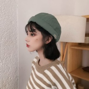 帽子 ぼうし ハット レディース シンプル つばなし 水洗い コットン 綿 夏 春 男女 メンズ お洒落 新作