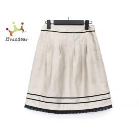 ジャスグリッティー JUSGLITTY スカート サイズ1 S レディース ライトベージュ×黒   スペシャル特価 20190826