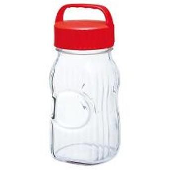 【5%OFFクーポン利用可能】【コード:3MNFGPT】 保存容器 漬け上手 小出し用ポット 1.5L ガラス製 持ち手付き