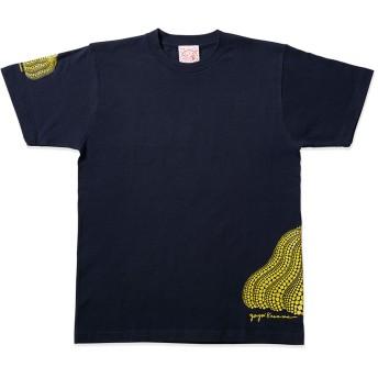 草間彌生:Tシャツ 南瓜 ネイビー L