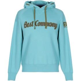 《9/20まで! 限定セール開催中》BEST COMPANY メンズ スウェットシャツ スカイブルー S コットン 100%