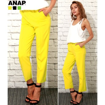 【セール開催中】ANAP(アナップ)裾カットオフイージーパンツ