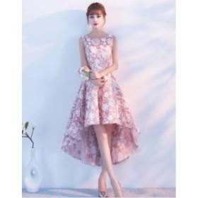 ワンピース ドレス ミニ丈 フィッシュテール ノースリーブ ウエディング ブライダル パーティー 上品 フォーマル 結婚式 20代 春夏 d548
