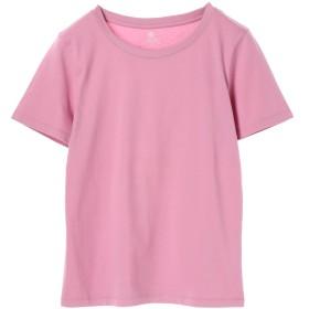【オンワード】 earth music & ecology(アースミュージック&エコロジー) ・ベーシッククルーネックTシャツ Pink L レディース 【送料無料】