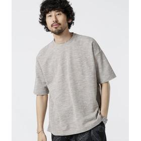 【50%OFF】 ナノ・ユニバース ミックスカノコビッグシルエットTシャツ メンズ ブラウン M 【nano・universe】 【タイムセール開催中】