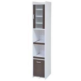 スリムラック 食器棚 すき間収納 高さ180cm ダークブラウン